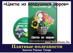 Видеокурс Цветы из воздушных шаров.