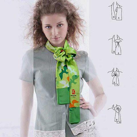 Завязывание платка и шарфа