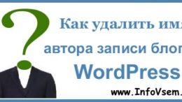 Как удалить имя автора записи блога WordPress?